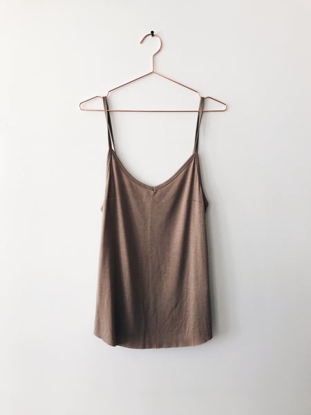 Emerson Grace - Rayon Cami, Taupe - Therapy & EG Page