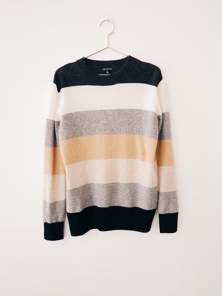 Minnie Rose - Cash Striped Long Sleeve Crew - Therapy & EG Page