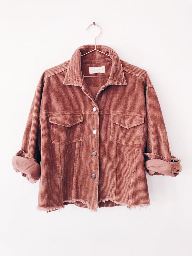 Laissez Faire - Kora Distressed Cord Jacket, Mocha - Therapy & EG Page
