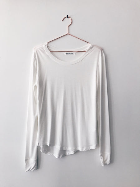 Emerson Grace - Boat Neck Long Sleeve, White - Therapy & EG Page