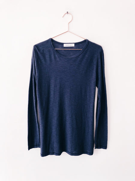 Emerson Grace - Long Sleeve Slub Jersey, Navy - Therapy & EG Page