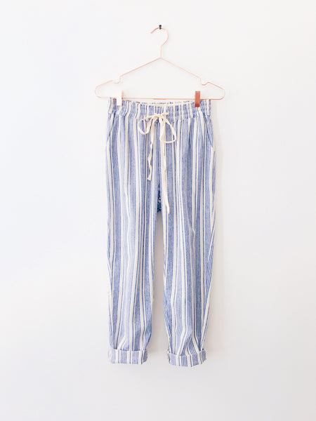 Laissez Faire - Linen Blue Multi Stripe Pant - Therapy & EG Page