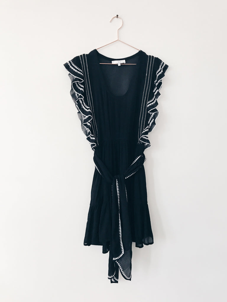 Iro - Ruffle Slv Dress Black - Therapy & EG Page