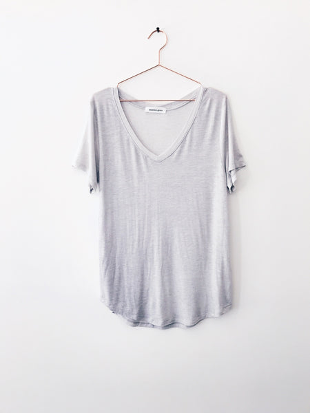 Emerson Grace - Drape Vneck Tee, Steel - Therapy & EG Page