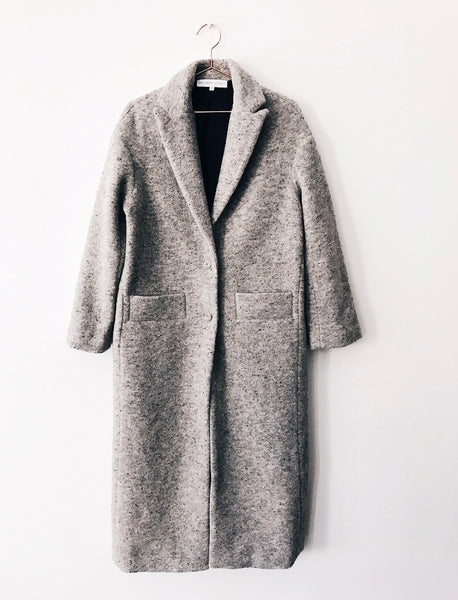 Designers Society - Long Speckled Wool Coat - Therapy & EG Page