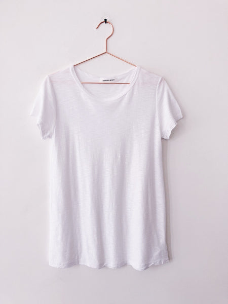 Emerson Grace - Short Sleeve Slub Jersey Crew, White - Therapy & EG Page