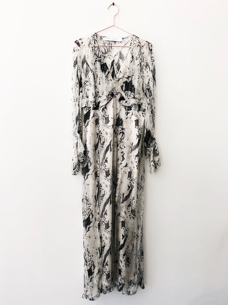 IRO - High Abstract Print Long Sleeve Dress - Therapy & EG Page