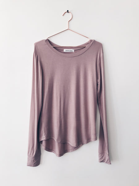 Emerson Grace - Boat Neck Long Sleeve, Dusty Pink - Therapy & EG Page