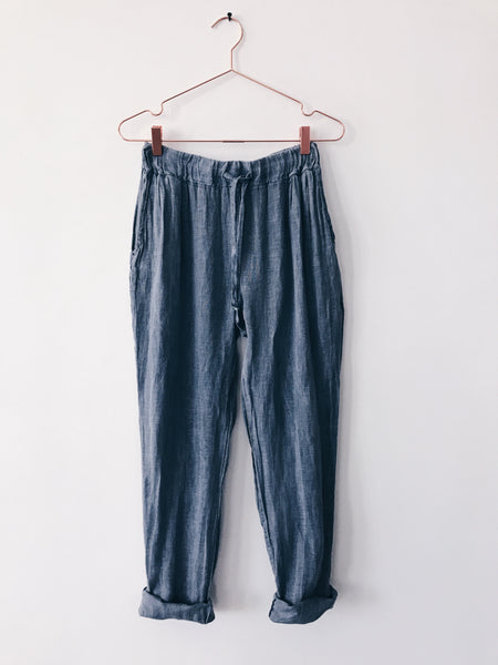 Laissez Faire - Leina Linen Pants, Denim - Therapy & EG Page