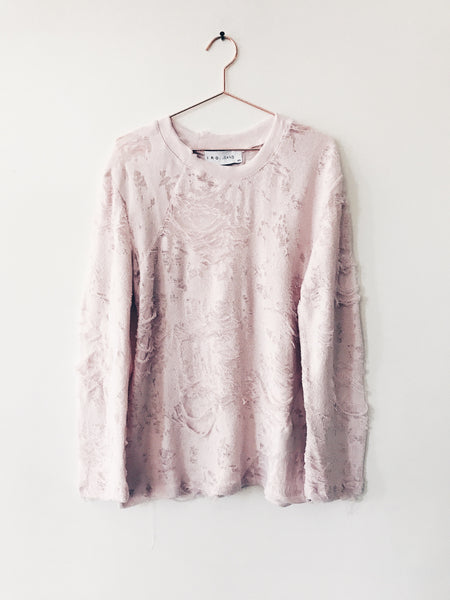 IRO - Anile Shreded Long Sleeve Pullover, Pink Sand - Therapy & EG Page