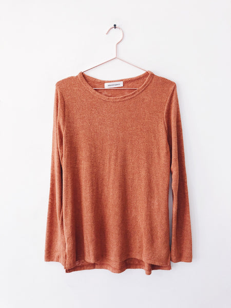 Emerson Grace - Long Sleeve Jersey Mesh, Pumpkin Spice Latte - Therapy & EG Page