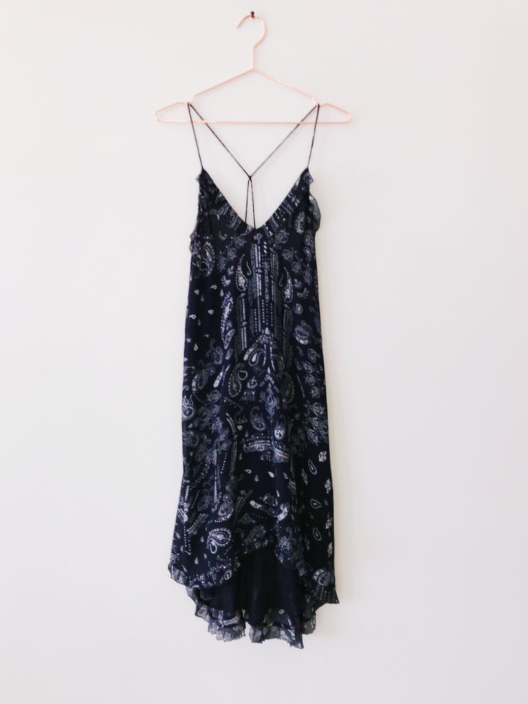 IRO - Bagda Bandana Print Ruffle Dress,Black - Therapy & EG Page