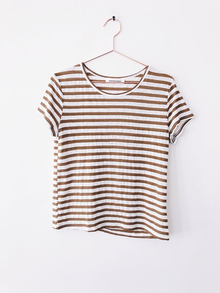 Emerson Grace - Short Sleeve Crew w/ Sheer Stripe - Therapy & EG Page
