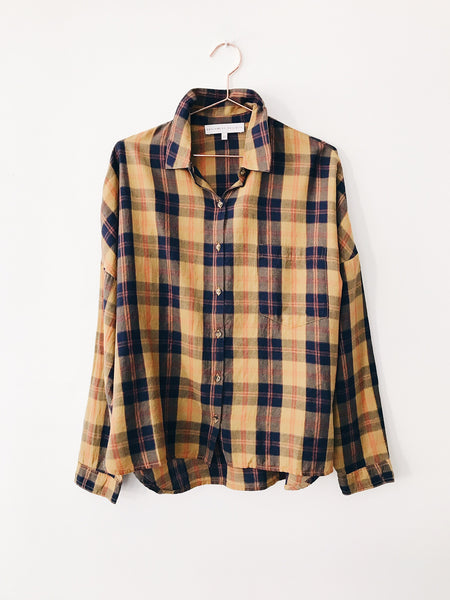 Designers Society-  Long Sleeve Boxy Checked Shirt - Therapy & EG Page