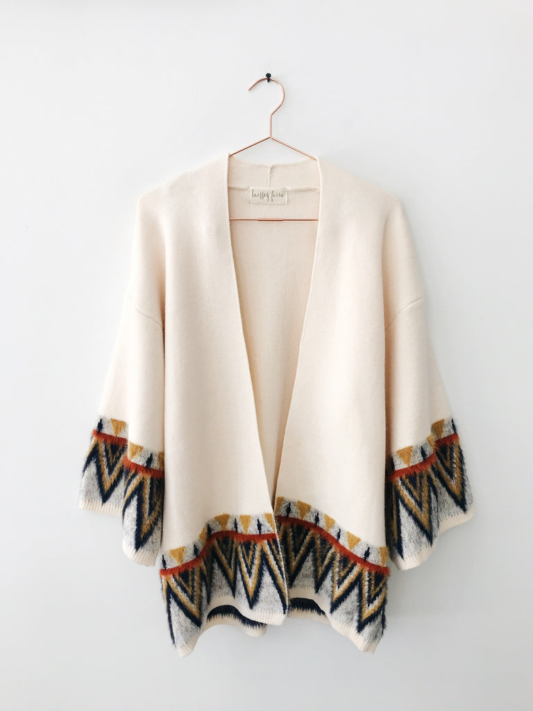 Laissez Faire - Meme Boxy Tribal Print Open Sweater - Therapy & EG Page
