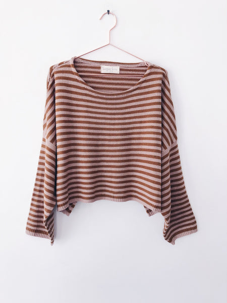 Laissez Faire - Danique Striped Cropped Sweater - Therapy & EG Page