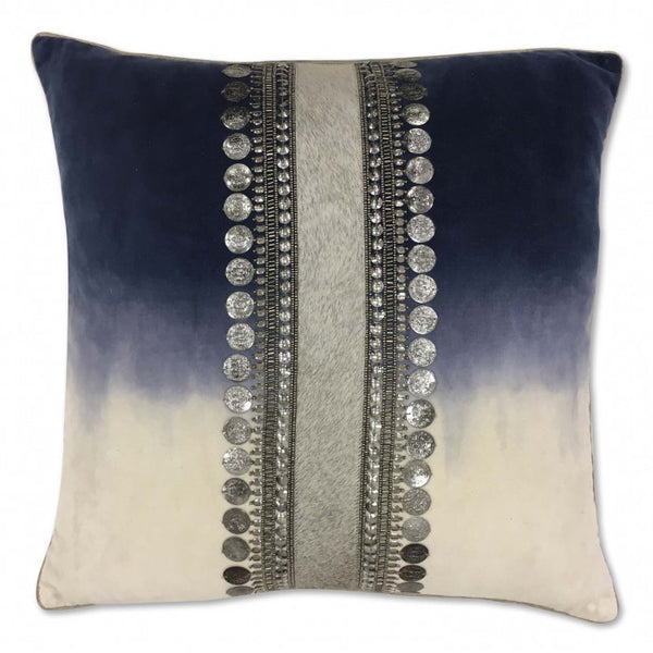Ombre Pillow with Beads & Sequins