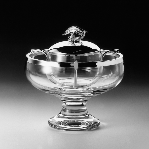 Silver and Crystal Caviar Bowl