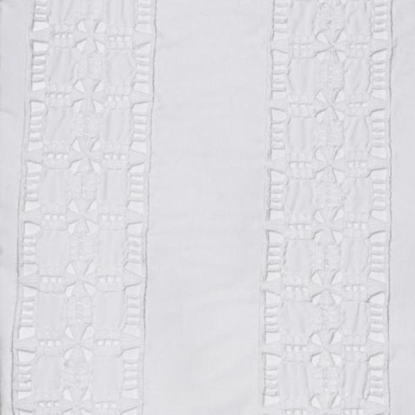 Hand Embroidered Bed Linen: Hemstitch Richelieu