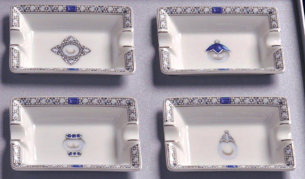 Limoges Porcelain Ashtray Set