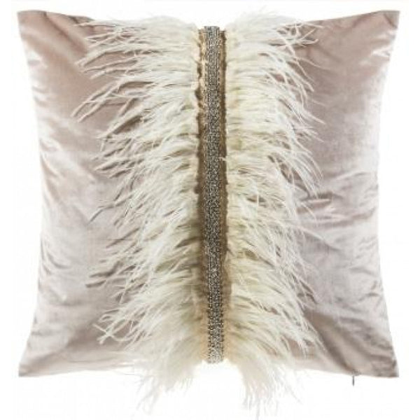 Ava Ostrich Feather Pillow