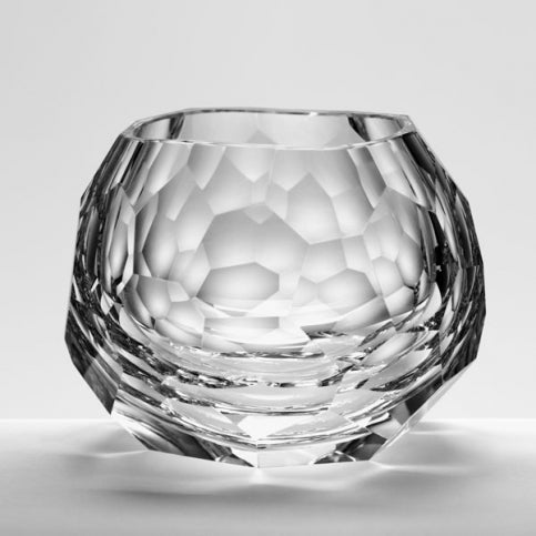 """Glacier"" Crystal Double Old Fashioned Glass"