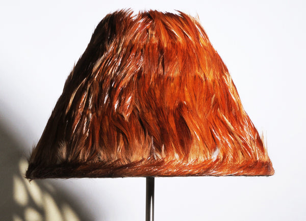 Red Feather Lamp Shade