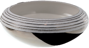 Medium Biscuit Porcelain Bowl