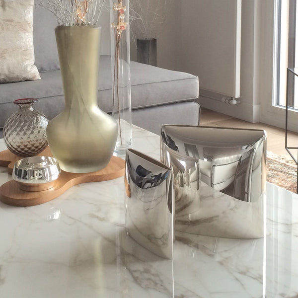 Sterling Silver Rectangular Vase