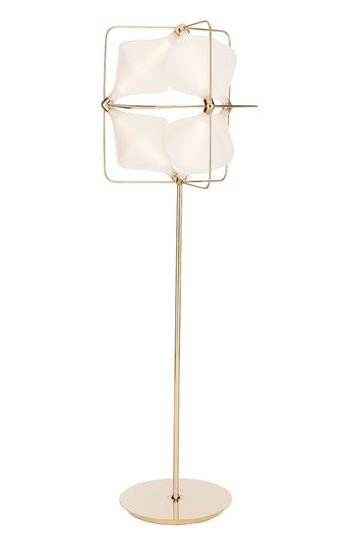 Sandblasted Hand Blown Glass Floor Lamp