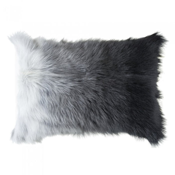 Grey Ombre Fur Pillow