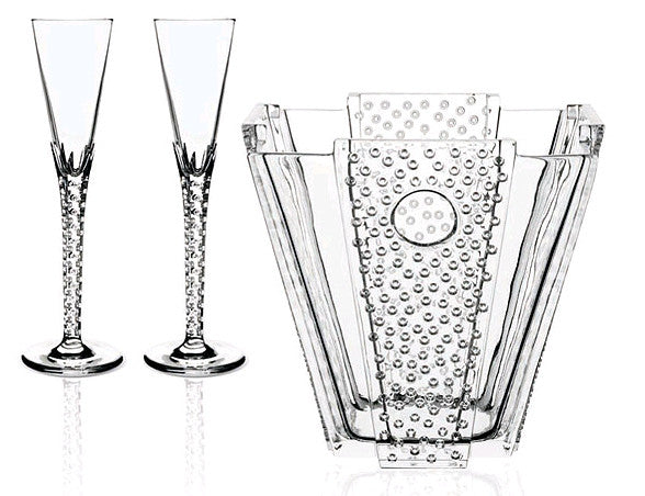 Crystal Champagne Bucket & Flute