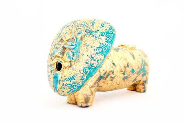 Gold Ceramic Lion