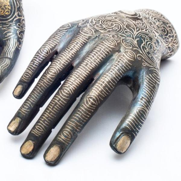 Henna Glazed Ceramic Hand