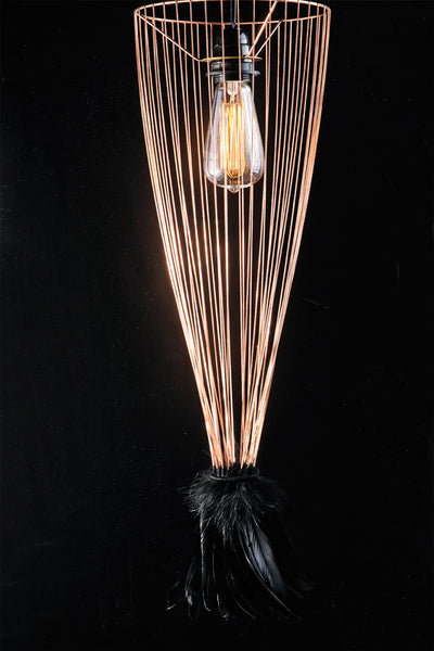 Cage of Light Feather Lamp