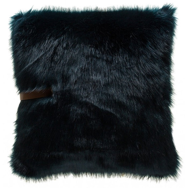 Fur Pillow With Leather strap