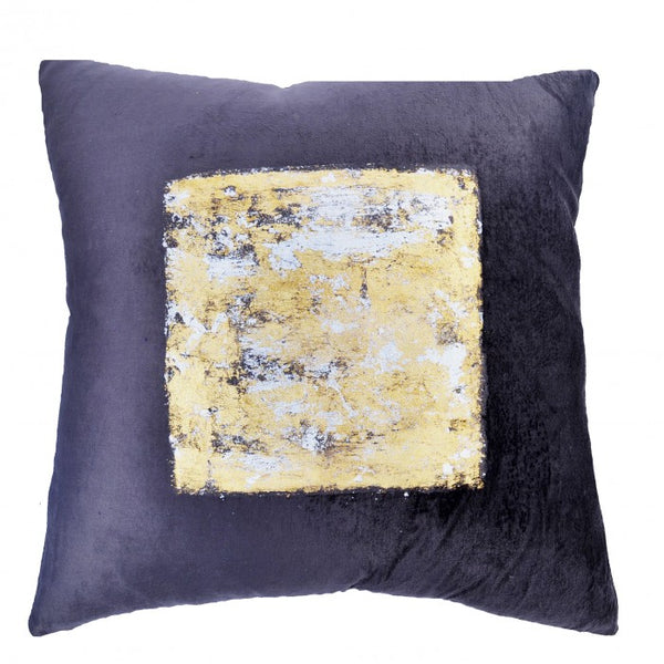 Velvet Charcoal and Silver Pillow