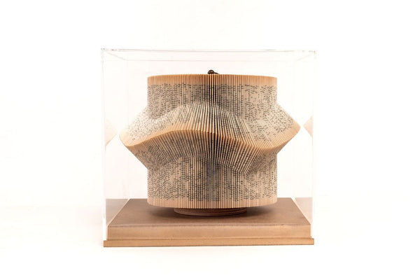 Wave - Book Sculpture in Acrylic Box