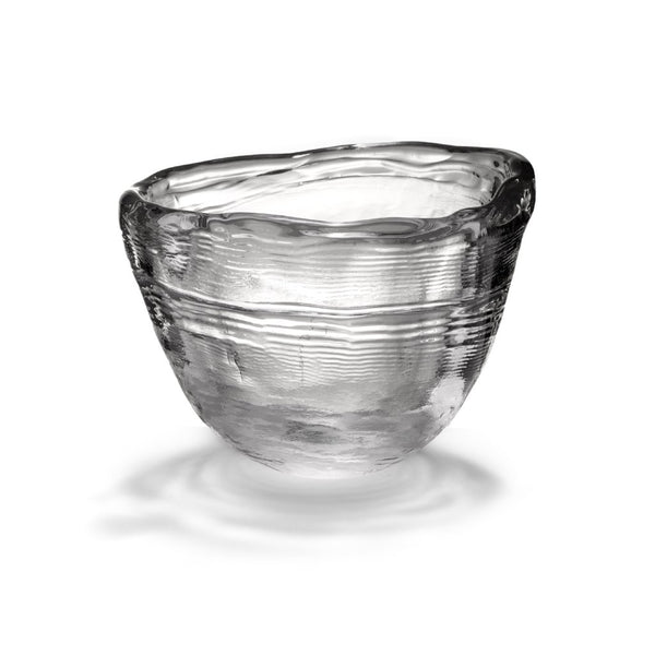 Frozen Hand Blown Glass Bowl