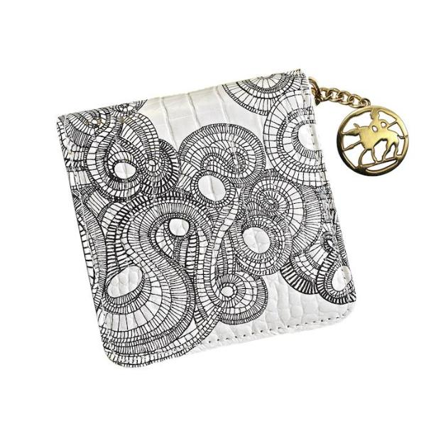 Spirals Small Square Wallet