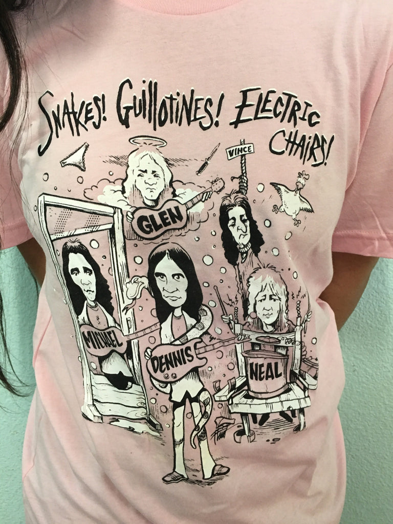 Snakes! Book Signing & Happening 2015 T-Shirt (Soft Pink)