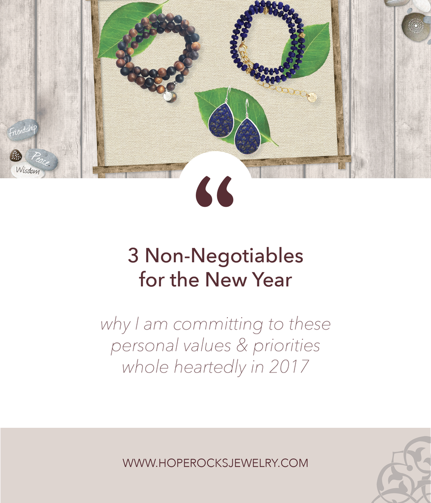 3 Non-Negotiables for the New Year