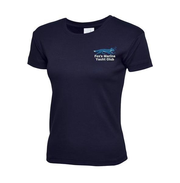 Fox's Marina Yacht Club Ladies T-Shirt