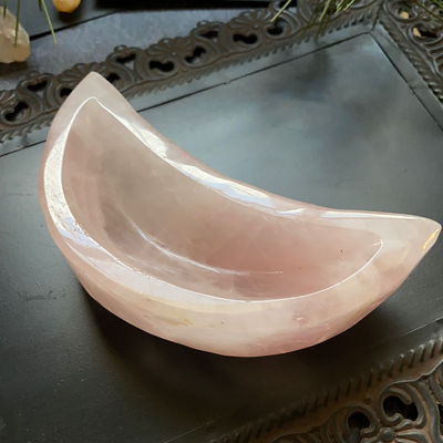 Rose Quartz Moon Bowl