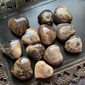 Black Moonstone Hearts 1-2""