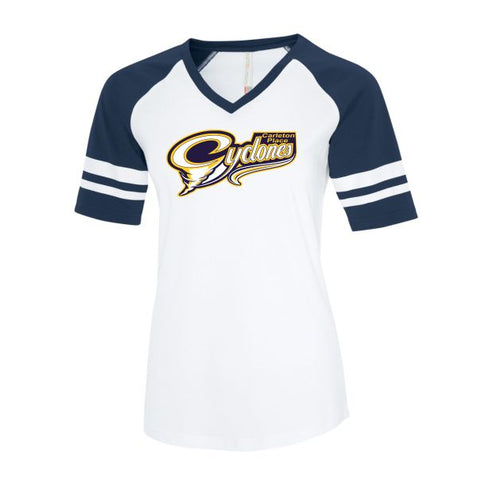 Cyclones Ladies Retro Ball Shirt