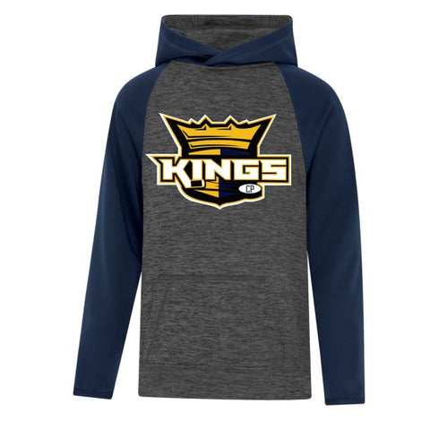 KINGS 2 Tone Hoodie Large Embroidered Crest