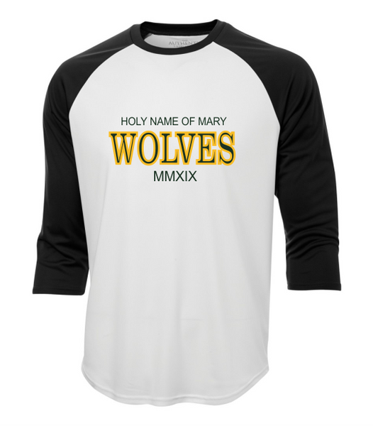 Holy Name of Mary 3/4 Ball Shirt with Text Logo