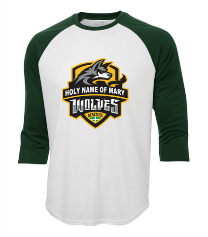 Holy Name of Mary 3/4 Ball Shirt with Full Logo