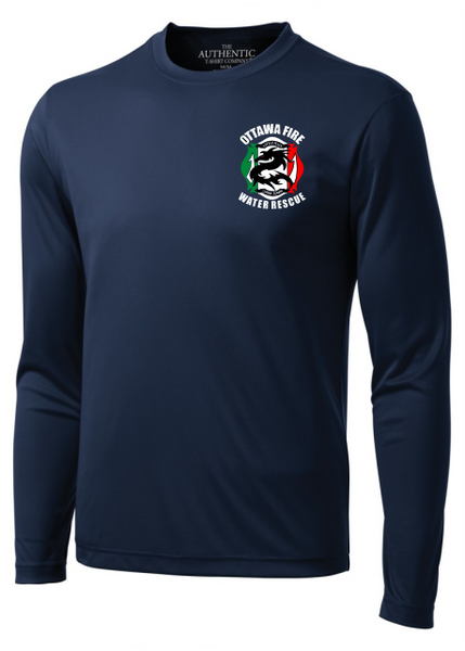Little Italy Fire Long Sleeve Performance T-Shirt
